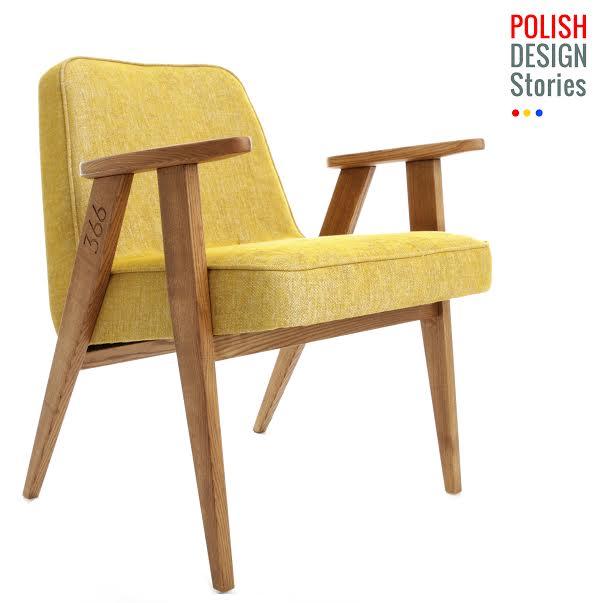 Fotel Model 366, proj. Józef Chierowski (1962), prod. 366 Concept (2014)
