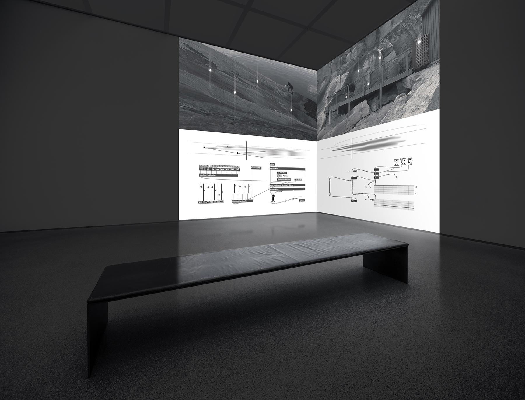 """""""Ciężko znaleźć ciało polifoniczne"""", Jacek Doroszenko, video, zdjęcie z wystawy, 2015, materiały promocyjne"""