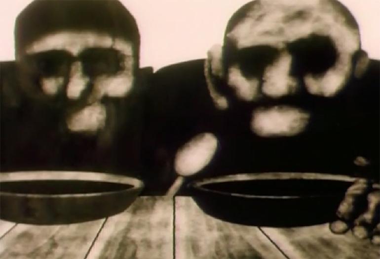"""Kadr z filmu """"Syn"""" Ryszarda Czekały, 1970, fot. Studio Miniatur Filmowych w Warszawie"""
