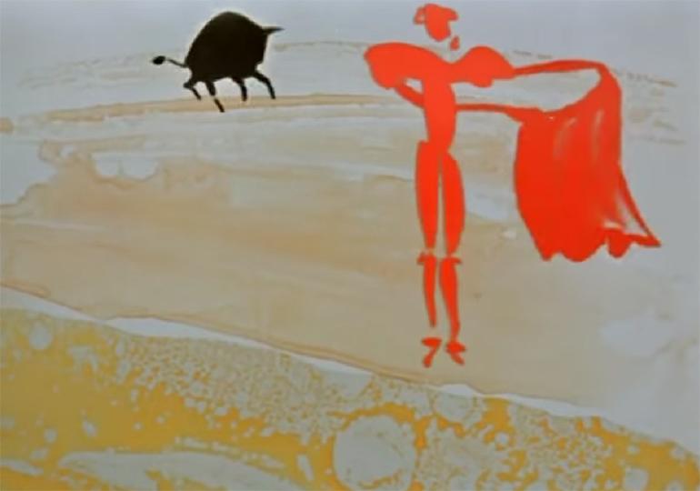 """Kadr z filmu """"Czerwone i czarne"""", reż. Witold Giersz,  fot. Studio Miniatur Filmowych w Warszawie"""