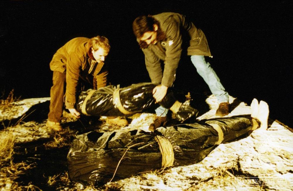 """Kadr z filmu """"Dług"""" w reżyserii Krzysztofa Krauze, 1999, fot. Studio Filmowe """"Zebra"""" Canal+ Polska ITI Cinema / Filmoteka Narodowa/www.fototeka.fn.org.pl"""