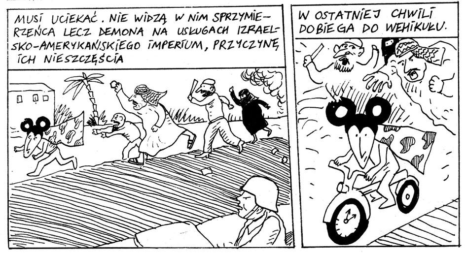 """Plansza z komiksu """"Ratman - Marsjanie z globalnej wioski"""", fot. Wydawnictwo Nowy Świat"""