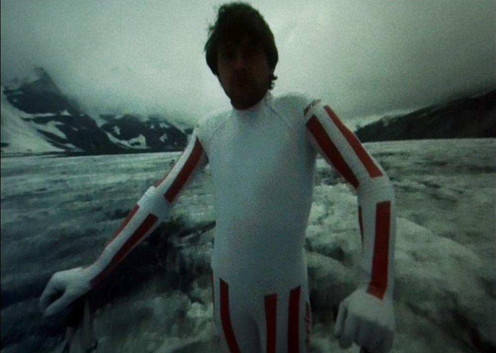 A still from Skiing Scenes with Franz Klammer, directed by Bogdan Dziworski, Gerald Kargl, Zbigniew Rybczyński, 1980, photo: press materials