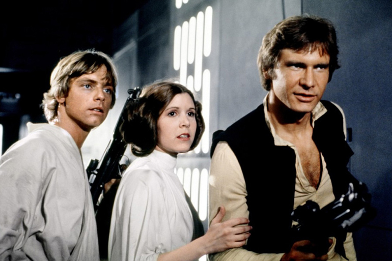 Still from Star Wars: New Hope, 1977, photo: press release