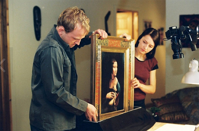 """Borys Szyc i Kamilla Baar  w filmie """"Vinci"""", 2004, reżyseria: Juliusz Machulski, fot. Film Vision"""