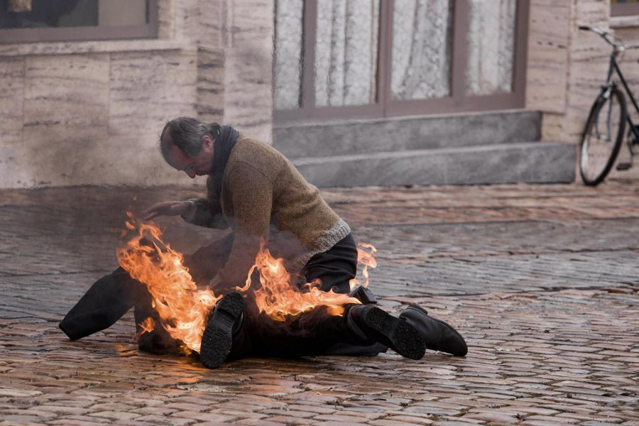 Still from Burning Bush, photo: Dušan Martinček, HBO