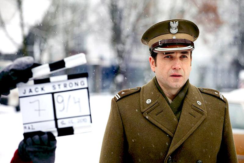 "Marcin Dorociński on the set of  Władysław Pasikowski's ""Jack Strong"", photo: Vue Movie Distribution"
