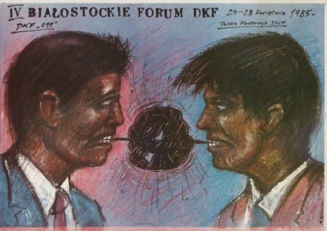 Andrzej Pągowski, IV Forum of Film Discussion Club in Białystok, 1985, photo: Film Museum in Łódź