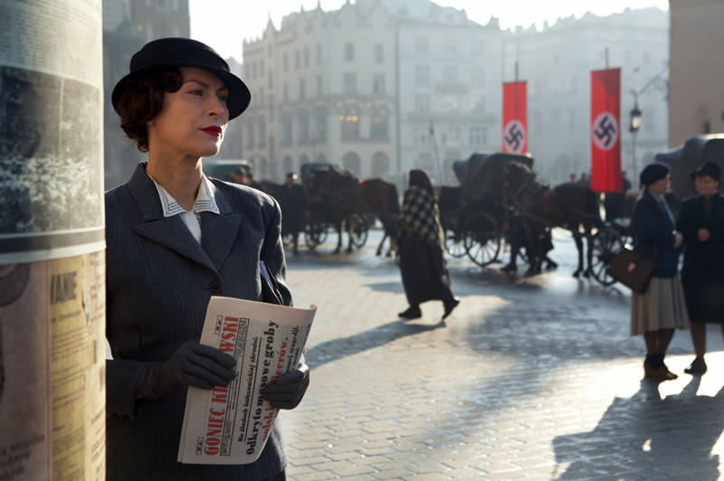 A still from 'Katyń', directed by Andrzej Wajda, 2007. Pictured: Danuta Stenka, photo: Fabryka Obrazu / East News