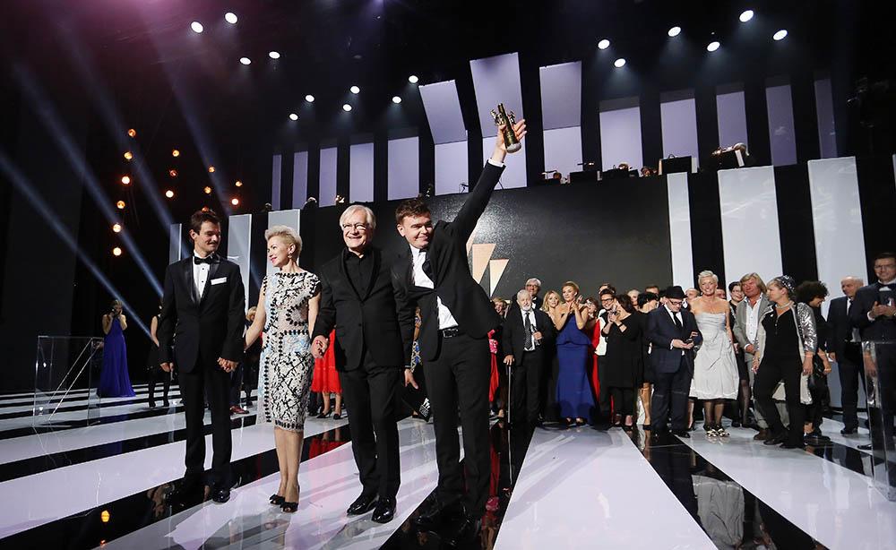 Polish Film Festival in Gdynia, Gdynia, 2016. Pictured: Dawid Ogrodnik, Aleksandra Konieczna, Andrzej Seweryn, Jan P. Matuszyński, photo: Piotr Matusewicz/East News
