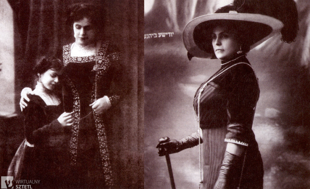 Ester Rachel Kamińska with her daughter Ida, photograph from circa 1907 , photo: unknown author / http://www.sztetl.org.pl