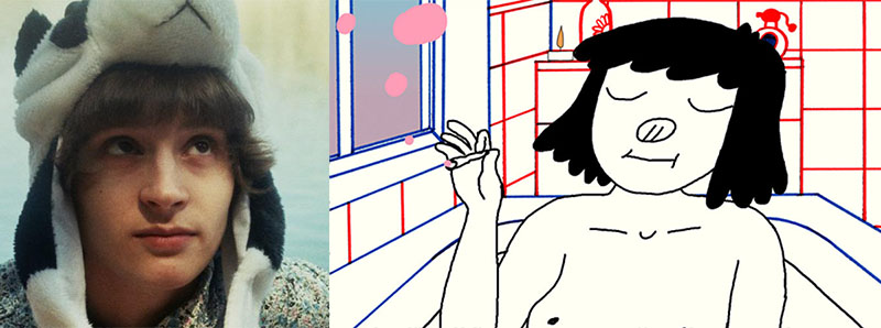 """Renata Gąsiorowska oraz kadr z filmu """"Cipka"""", animacja Renaty Gąsiorowskiej, fot. materiały prasowe"""