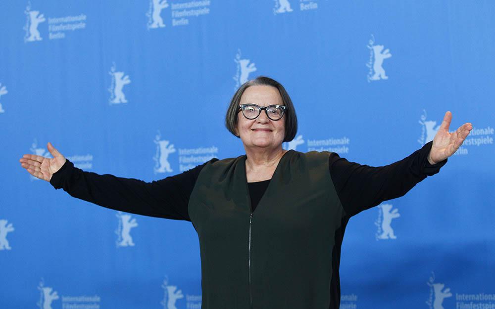 Agnieszka Holland podczas 67. Festiwalu Filmowego w Berlinie, 2017, fot. Michele Tantussi /  REUTERS/Forum