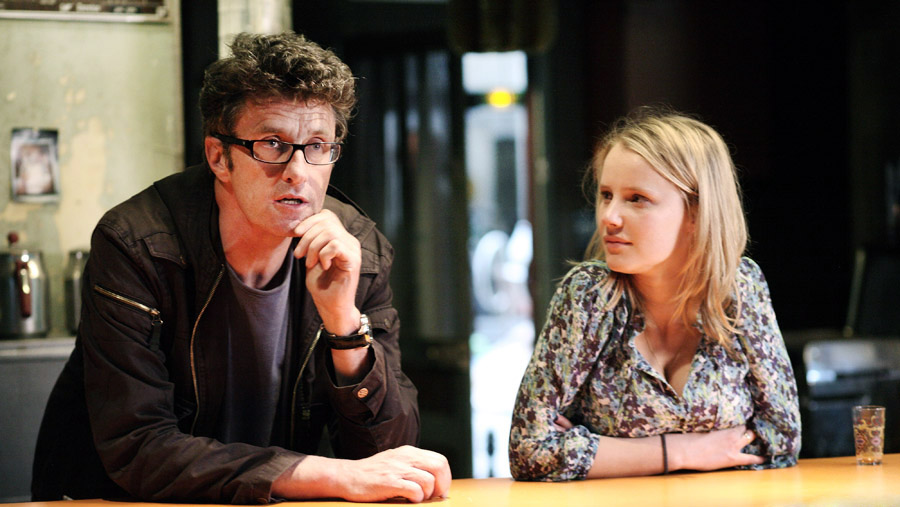Paweł Pawlikowski and Joanna Kulig on the set of The Woman in the Fifth, photo: Jean-Claude Lother / SPI International Polska