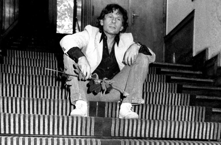Roman Polański w  Szkole Filmowej w Łodzi, 1981, fot Bogdan Borkowski / Forum