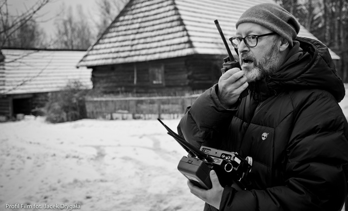 "Wojciech Smarzowski on the set of the film ""Angel"", photo: Jacek Drygała / Kino Świat"