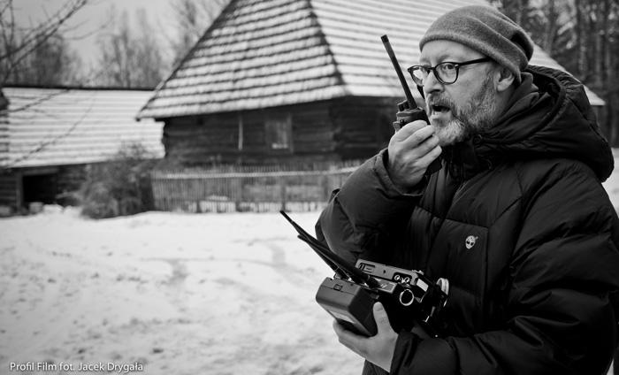 """Wojciech Smarzowski na planie filmu """"Pod Mocnym Aniołem"""", fot. Jacek Drygała / Kino Świat"""