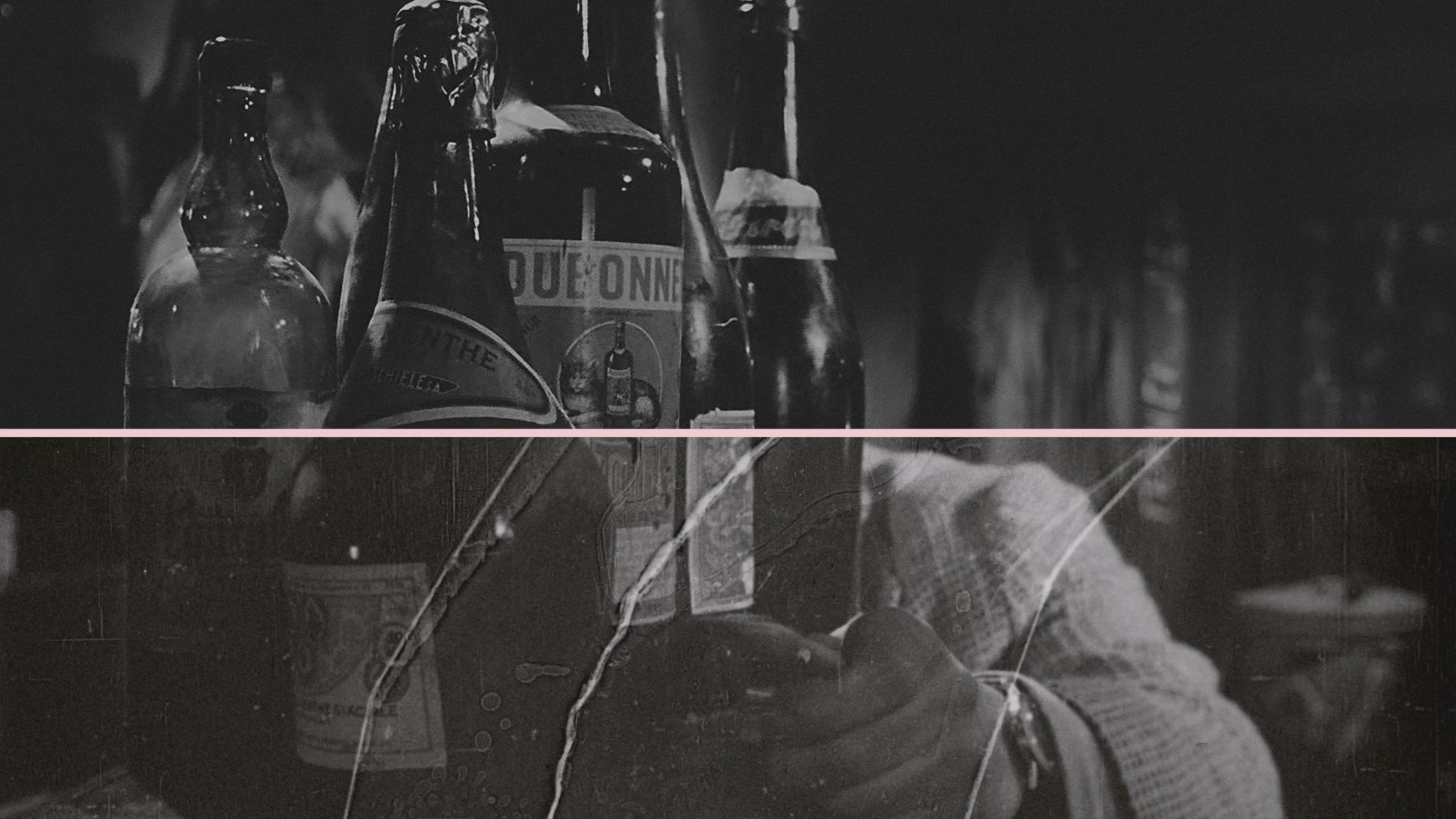 """Kadr z filmu """"Niewinni czarodzieje"""" Andrzeja Wajdy, po rekonstrukcji (na górze) i przed (na dole) fot. DI Factory"""