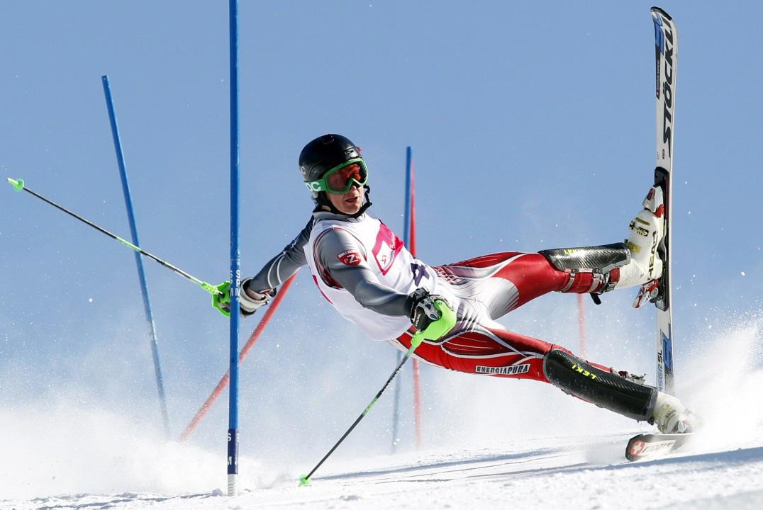"""Andrzej Grygiel otrzymał drugą nagrodę za zdjęcie pojedyncze w kategorii """"Sports Action"""" za dynamiczny portret uczestnika międzynarodowych zawodów narciarskich w Szczyrku."""