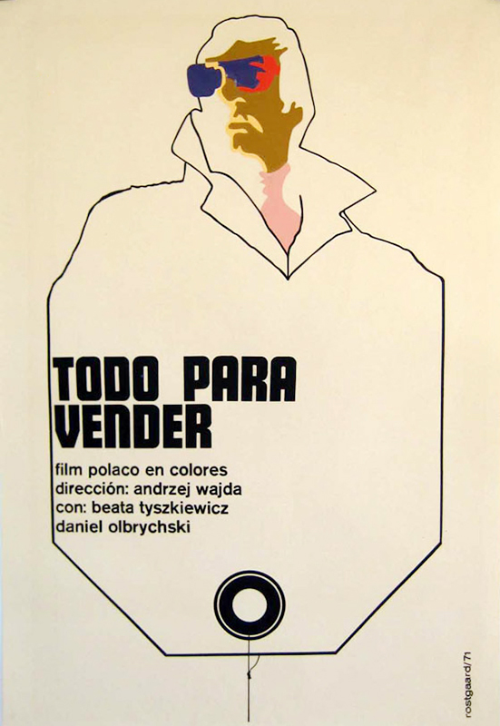 Spanish poster for Wajda's Everything for Sale, photo: Museum of Cinematography in Łódź.