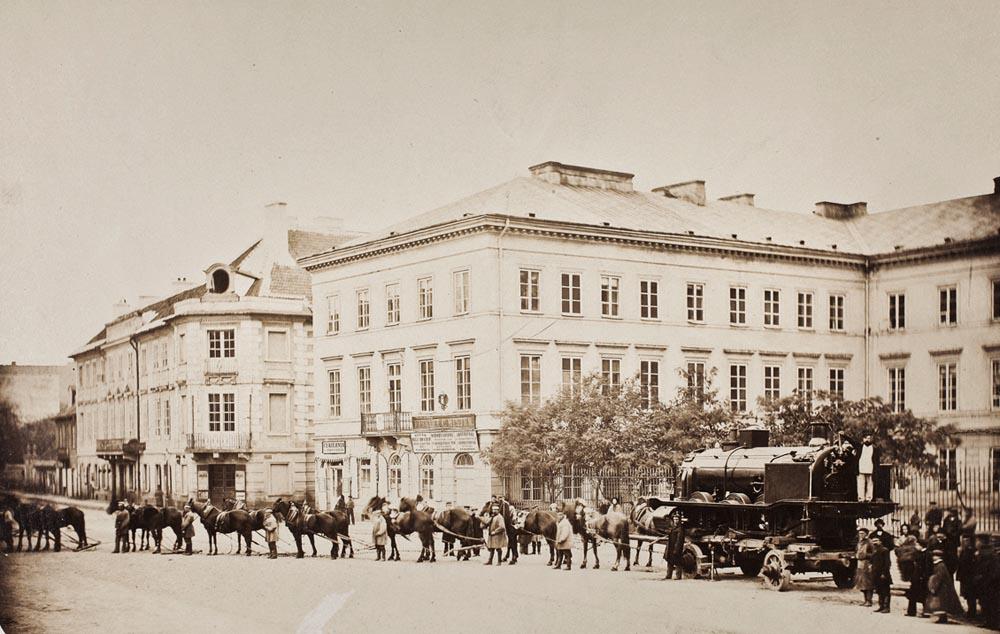 Warszawa, plac Dzieciątka Jezus, 1862. Zbiory: Muzeum Narodowe w Warszawie.