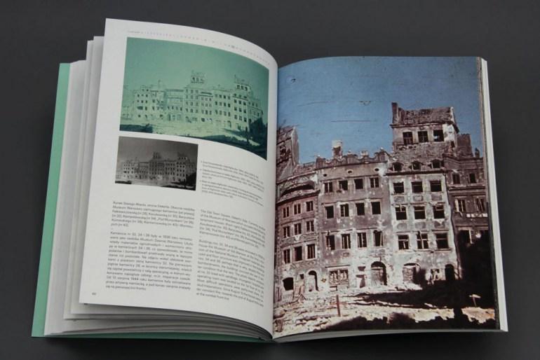 """Rozkładówka z książki """"Fotografie ruin. Ruiny fotografii 1944-2014"""" autorstwa dr Magdaleny Wróblewskiej, fot. Grażyna Kułakowska / Muzeum Warszawy"""