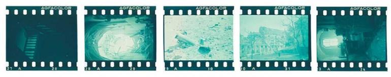 Fragment slajdów Agfacolor z filmu naświetlonego w sierpniu 1944 roku przez Ewę Faryaszewską na warszawskiej Starówce, wywołanego 1955–1957, zdigitalizowanego w 2014, fot. zbiory MW