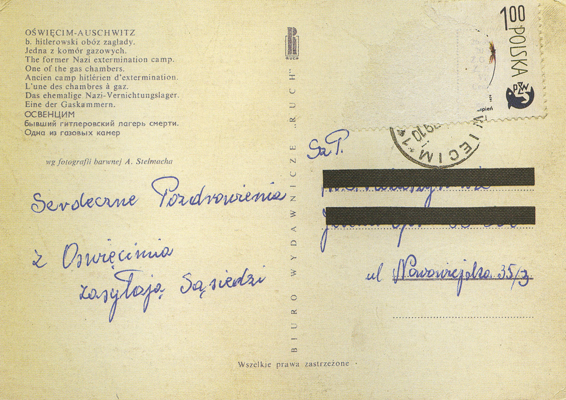 Is sending postcards from concentration camps always tasteless greetings from auschwitz m4hsunfo