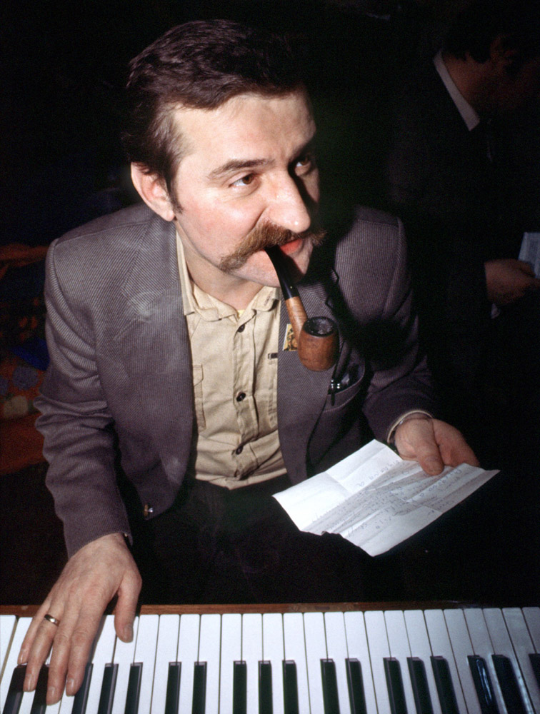 Lech Wałęsa, 1980, Photo: Chris Niedenthal  / Forum