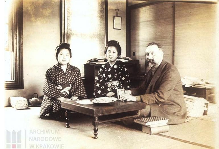 Bronisław Piłsudski podczas pobytu w Japonii, fot. Archiwum Narodowe w Krakowie