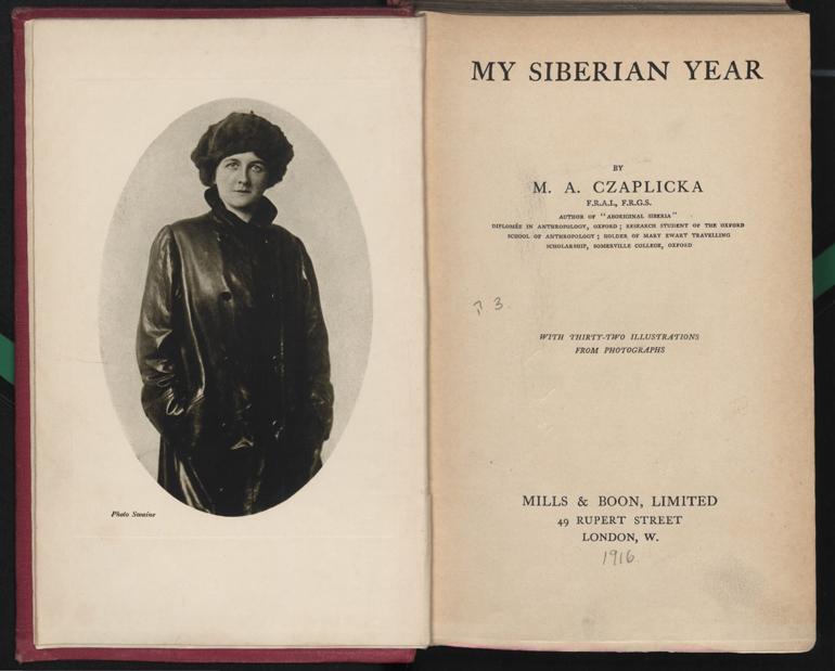 """Rozkładówka z książki Marii Czaplickiej """"Mój rok na Syberii"""", 1916, fot. Polona / www.polona.pl"""