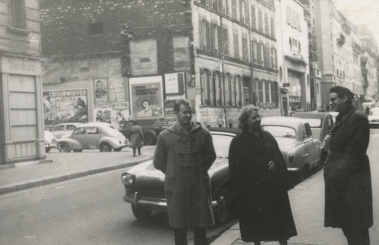 Jerzy Grotowski in Paris, 1957. Photo: From Kazimierz Grotowski's private archives / Source: Jerzy Grotowski's Institute