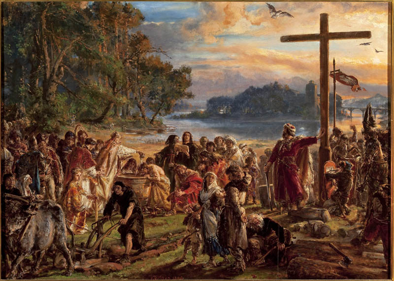 'The Adoption of Christianity' by Jan Matejko, from the series 'History of Civilisation in Poland', photo: National Museum in Warsaw