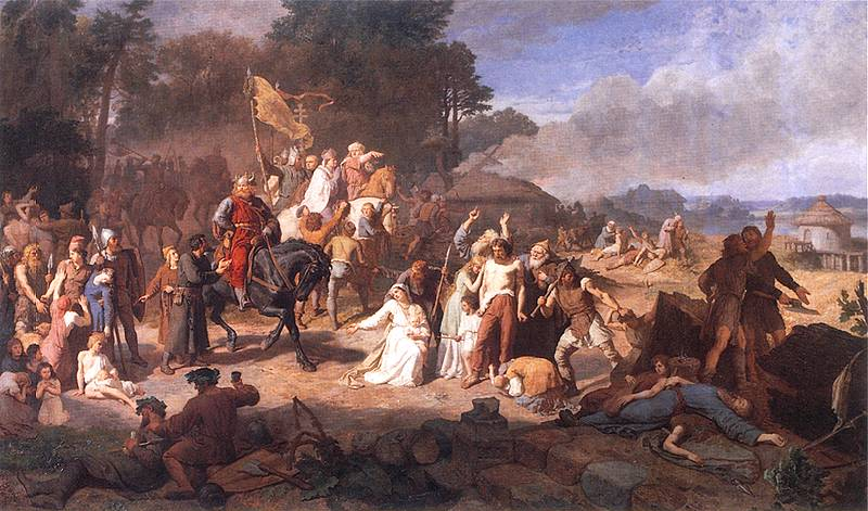 Wojciech Gerson, The Capture of the Wends, 1866; photo: Wikimedia Commons