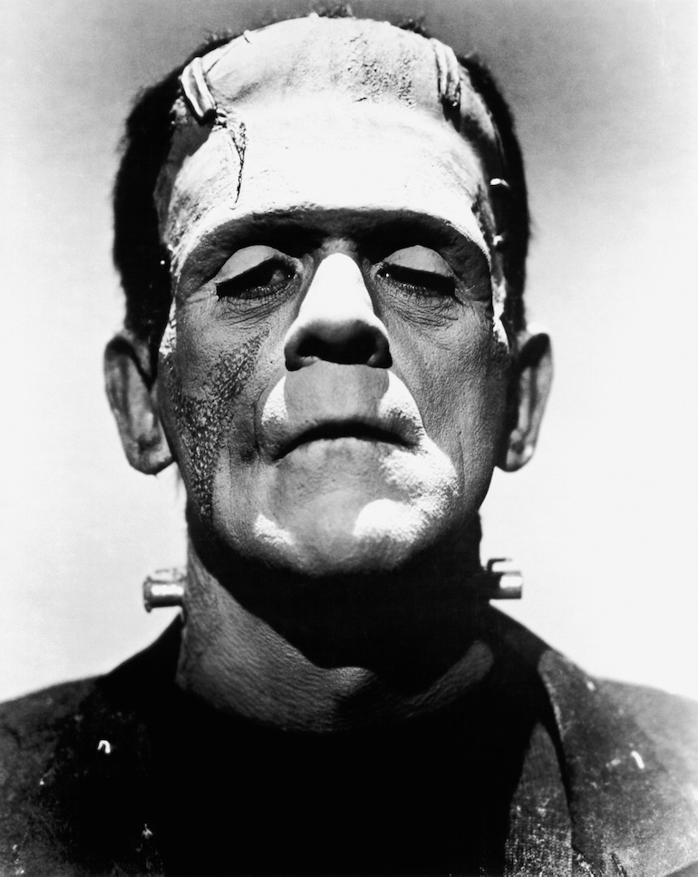 Boris Karloff as Frankenstein's monster. source: Universal Pictures / Wikipedia / CC.