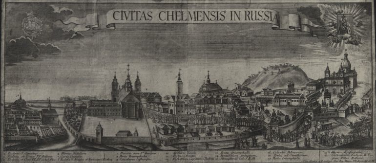 One of the oldest images of Chełm comes from 1780. Drawn by T. Rakowiecki; photo: Wikipedia / CC