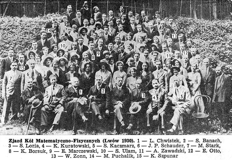 Lwowska szkoła matematyczna, 1930, fot. CC / Wikimedia