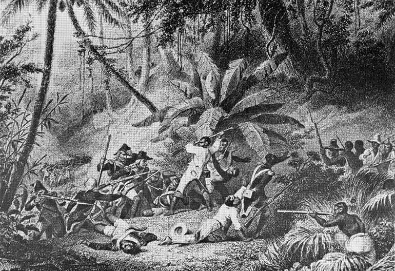 Leclerc's veterans storm Ranive-a-Couleuvre (Snake Gully) in 1802, photo: CC / Wikimedia