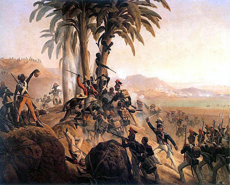 """Obraz Januarego Suchodolskiego """"Bitwa na San Domingo"""" (1845), źródło: CC / Wikimedia"""