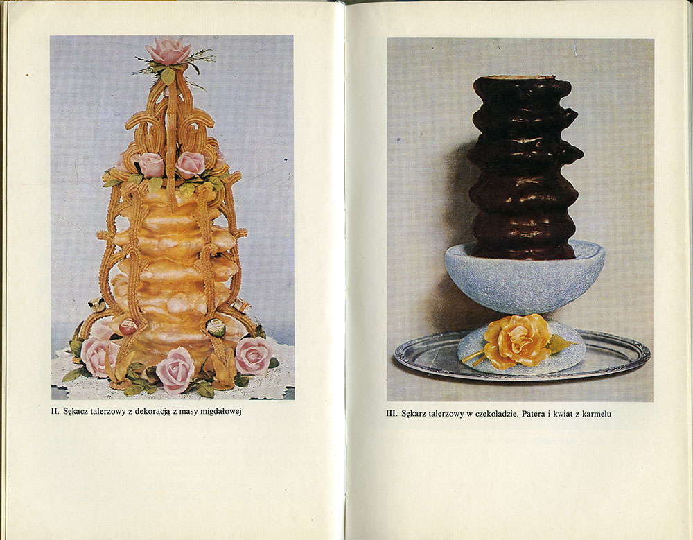 Examples of traditional Polish cakes with decoration, photo from the book by Wojciech Herbaczyński, scan by Culture.pl