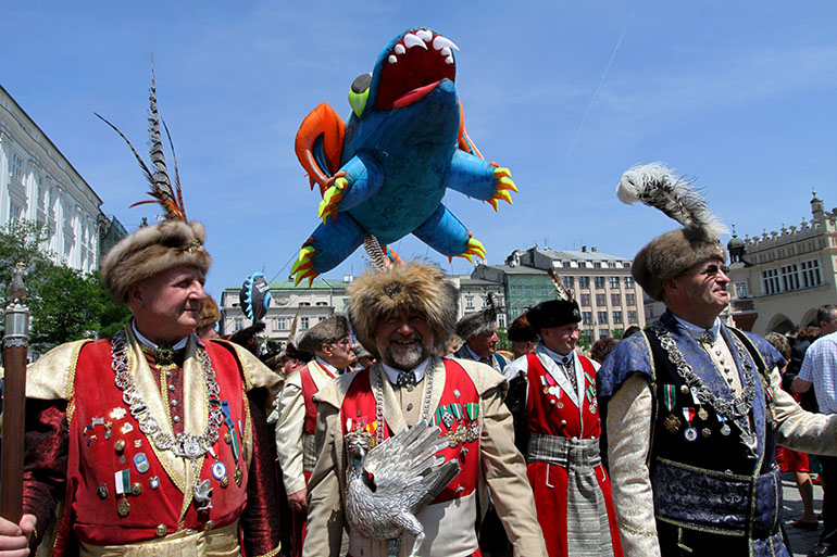 The Marksmen (Bractwo Kurkowe) during annual parade in Cracow, 2011, photo: Grzegorz Kozakiewicz / Forum