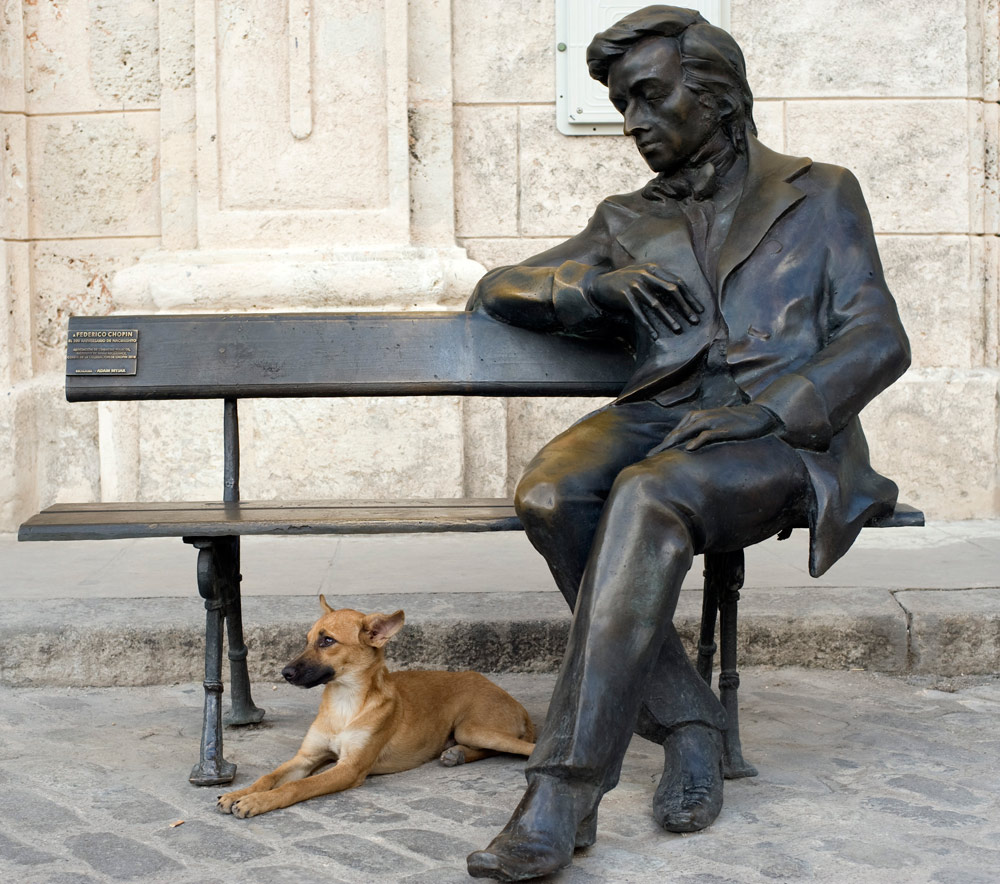 Pomnik Fryderyka Chopina na Plaza Vieja w Hawanie, fot. Taida Tarabula / Forum