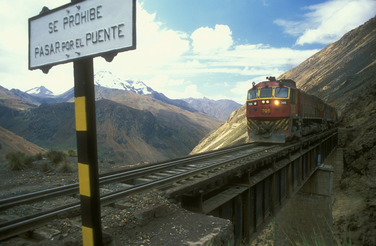 Trans-Andean Railway designed by Ernest Malinowski, 2002, photo: Marcin Biernacki / Forum