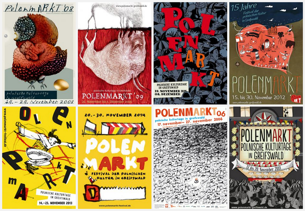 Posters from previous editions of polenmARkT. Photo: promotional materials