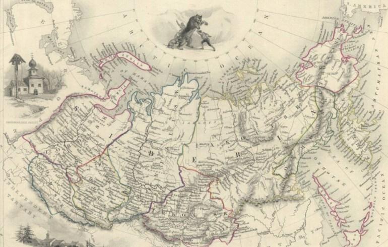 Siberia map, Photo: Polona.pl