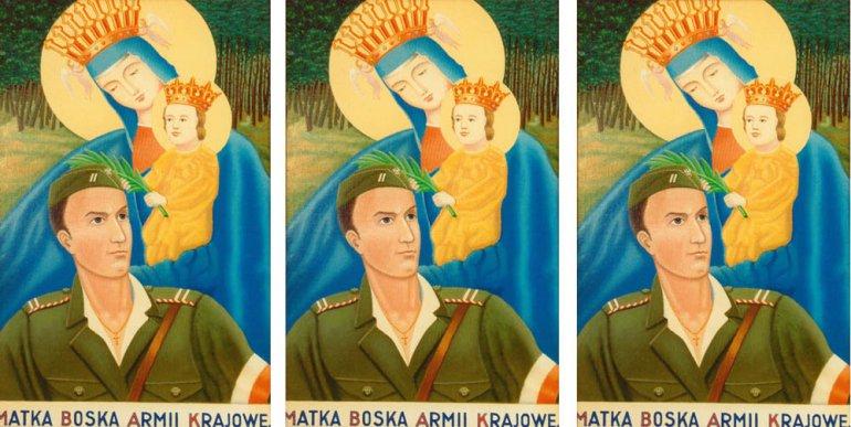 Matka Boska Armii Krajowej, obraz z muzeum oddziału AK, fot. FoKa/Forum