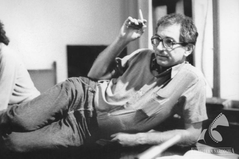 """Krzysztof Kieślowski, fot. Studio Filmowe """"Tor"""" / Filmoteka Narodowa / www.fototeka.fn.org.pl"""