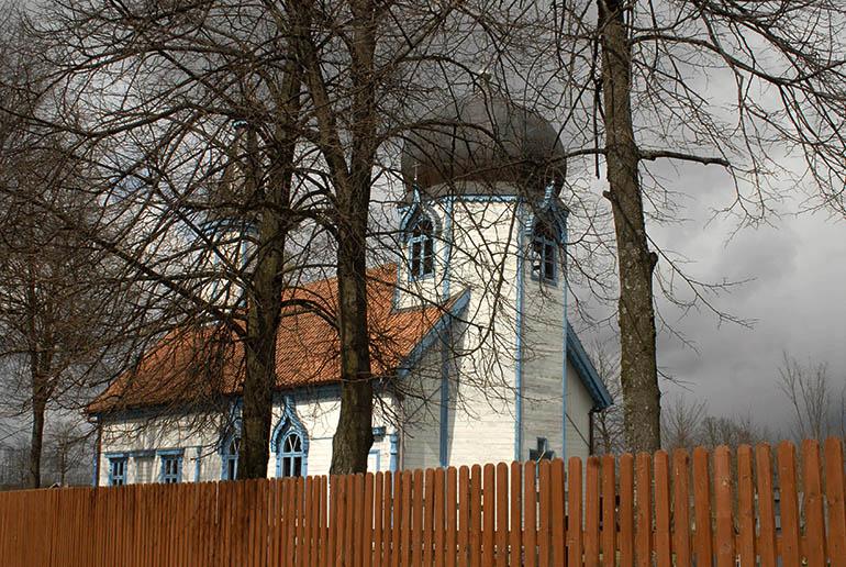 A historic orthodox Church of the Old Ritualists in Wojnów, Mazury region. 9th of April, 2007, photo: Taida Tarabula / Forum