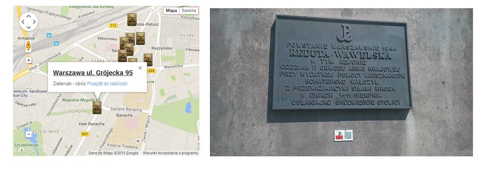 Lokalizacja miejsc pamięci na Ochocie z przygotowanymi opisami, fot. materiały promocyjne