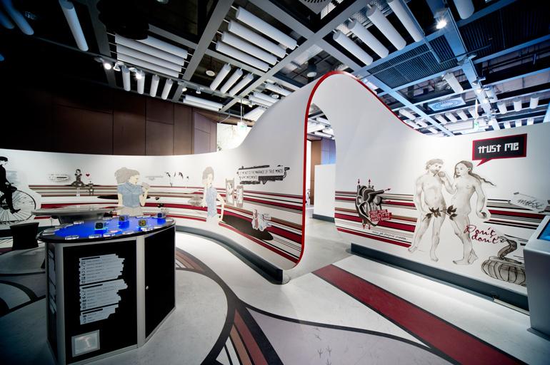 A futuristic exhibition in the Copernicus Science Centre photo: Łukasz Sokół / Forum